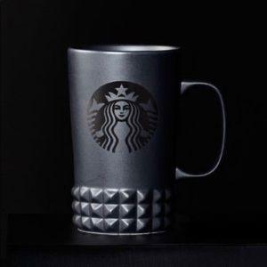 Starbucks black matte studded cuff mug 16oz